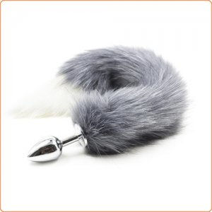 Cola de Zorro Fox Tail Gris 1